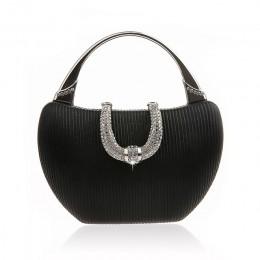 Torebka ślubna luksusowe torebki damskie szampan elegancka torba na ramię diament U kształt zapięcie kopertówka torebka ZD1346
