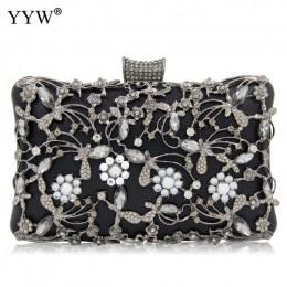 Kobiety Rhinestone kopertówki złota torebka torebka luksusowe ślubne, z koralikami elegancka kryształowa torebka wieczorowa diam