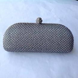 Elegante granatowe kryształowe pudełko kopertówka i torebki Rhinestone torby wieczorowe