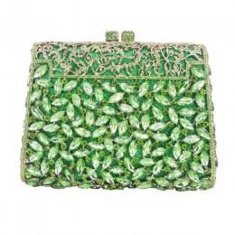 Srebrne pudełko torba diamentowa damska kopertówka kryształowa torebka na imprezę damska bankietowa torebka moda Pochette Prom t