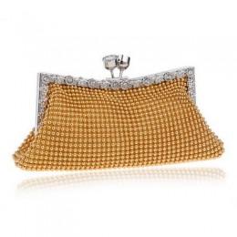 SEKUSA diamenty damskie torby wieczorowe mała torebka sprzęgła torebki srebrne/złote/czarne dżetów torby wieczorowe na ślub tote