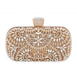 Torebka z kryształkami dla kobiet na wesele Rhinestone torba wieczorowa Best sale-wt
