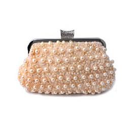 SEKUSA ozdobiony paciorkami damski torby wieczorowe różowa perła kobiet torebki wieczorowe typu clutch z łańcuszkiem na ramię ma