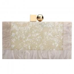 Kontrastowe kolorowe okno akrylowe torby twarda powierzchnia kobiety eleganckie torby na ramię prostokątne sprzęgła moda ślubna