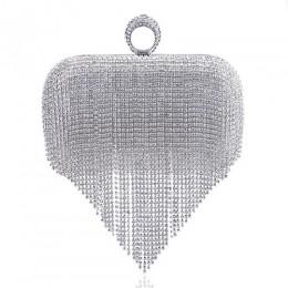 GLOIG moda kobiety tassel torby wieczorowe diamenty zroszony sprzęgła torebki ślubne ramię party laides case torebka