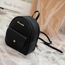 Mini plecak kobiet torba na ramię ze skóry PU dla nastoletnich dziewcząt dzieci wielofunkcyjny mały plecak kobiet panie plecak s