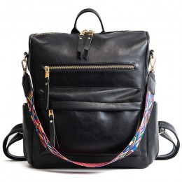Herald Fashion torba na ramię w stylu boho PU skórzany plecak podróżny wysokiej jakości plecak dla dziewczynek Sac a Dos Feminin