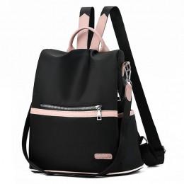 2020 dorywczo plecak Oxford kobiety czarna wodoodporna Nylon szkoła torby dla nastoletnich dziewcząt wysokiej jakości mody torba