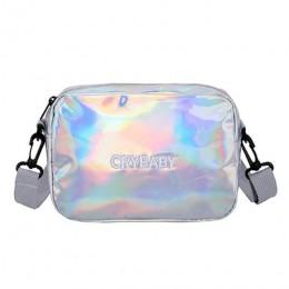 Yogodlns 2020 laser holograficzny plecak haftowane Crybaby list plecak z hologramem zestaw tornister + torba na ramię + penbag 3