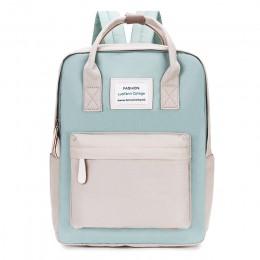 Wodoodporny plecak szkolny dla nastolatków młodzieżowy dla kobiet dziewczęcy uniwersalny czarny beżowy niebieski