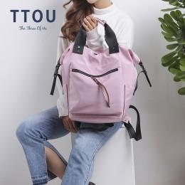 TTOU nylonowy plecak kobiety plecaki do użytku codziennego panie o dużej pojemności tornister na nowy rok szkolny nastoletnie dz