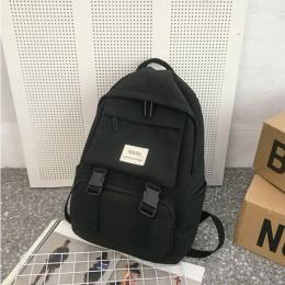 HOCODO plecak dla kobiet Solid Color tornister dla nastoletnich dziewcząt torba podróżna na ramię kilka kieszeni Nylon plecak Mo