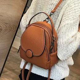 Nowy projektant mody kobiet skórzany plecak Mini miękki w dotyku wielofunkcyjny mały plecak kobiet damska torba na ramię torebka