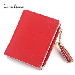 Oryginalne skórzane damskie luksusowe modne krótkie śliczne małe portfele modna wielopunktowa pozycja wielofunkcyjna mała torebk