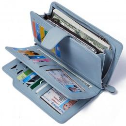 Portfel damski portfel ze skóry PU rozrywka torebka czarny styl 3 krotnie 2019 nowych kobiet portfele duży portmonetka posiadacz
