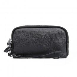NIGEDU długi portfel damski z prawdziwej skóry 3 warstwy Zipper kopertówka duża pojemność Lady Clutch Coin torebka torba na tele