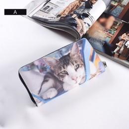 AIREEBAY 3D drukowania kobiet portfele miękkie PU skóra koty zwierząt wzór pani portmonetka małe MoneyBags portfel kiesy torby