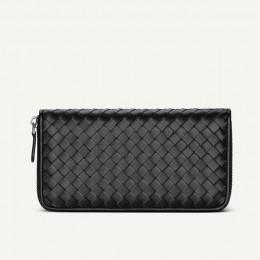 Męski portfel ze skóry długo tkana skórzana torba luksusowa marka kopertówka prosta moda damska portfel o dużej pojemności 100%