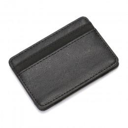 CUIKCA Korean Version Unisex magiczny portfel pieniądze klipy kobiety mężczyźni portfel portmonetka Carteira wąski skórzany port