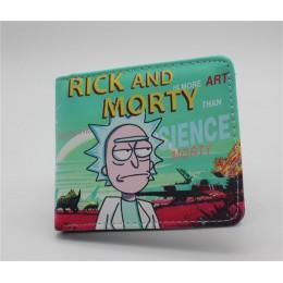 Anime Rick i morty Cartoon portfel Rick Bi-składany portfel etui na karty kredytowe torebka mężczyźni skóra Pu krótkie portfele