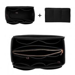 HHYUKIMI marka organizator przyborów do makijażu filc wkładka torba na torebki podróży wewnętrzna torebka przenośne torby kosmet