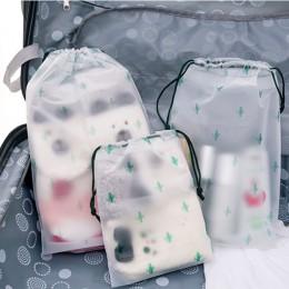Kobiety przezroczysty sznurek kaktus kosmetyczka podróżna kosmetyczka na produkty do makijażu makijaż wanna organizator pokrowie