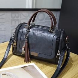 Duzeala 2019 New Arrival modna torba damska dla pań Retro PU skórzana torba damska Tassel Zipper Crossbody torby