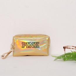UOSC moda wodoodporna laserowo torby kosmetyczne kobiety Neceser makijaż torba etui z pvc do mycia kosmetyczki organizator podró
