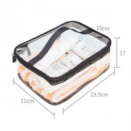 Wodoodporny przezroczysty PVC kąpiel kosmetyczka kobiety kuferek kosmetyczny podróż Zipper makijaż uroda kosmetyczka przechowywa
