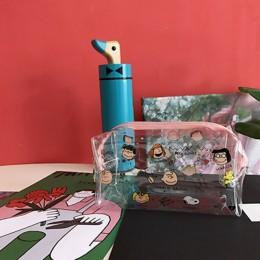 Cute Cartoon Girl kosmetyczka przezroczyste kobiety kosmetyczka PVC Zipper zestaw do makeupu Travel organizator przyborów toalet