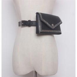 Mihaivina kobiety nit pas biodrowy torbeka na talię na co dzień PU skóra kobiet torby pasek podróżny portfele torebka biodrowa p