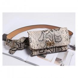 Piterek Fashion serpentyn talia torba damska skórzana saszetka biodrowa Vintage torebki na pasku na biodra etui na telefon B19
