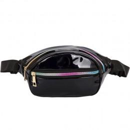 Yogodlns torebka holograficzna Laser nerka pasek damski w talii torba Hologram torebka moda torba piersiowa