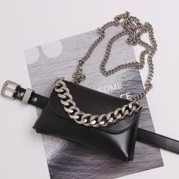Moda damska talia torba PU skórzane torby z paskiem piterek łańcuszek wysokiej jakości talii paczki Hip Pack wielofunkcyjna torb