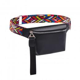 Talia torba dla kobiet PU skórzany piterek moda czeski saszetka na pasek kobiety etui na telefon w stylu casual, czarny torba na