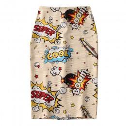 Damska spódnica ołówkowa 2019 nowa mysz z kreskówki druku wysokiej talii wąskie spódnice młoda dziewczyna lato duże rozmiary jap