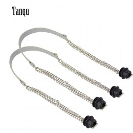 Tanqu nowy 1 para Obag srebrny długi podwójny łańcuch OT T OBag uchwyty dla Obag EVA O torba skrzynki kobiety torba torebka na r