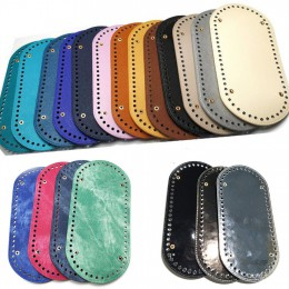 Wysokiej jakości owalne długie dno na torba z dzianiny PU skóra 60 otworów kobiet torby Handmade DIY akcesoria do toreb
