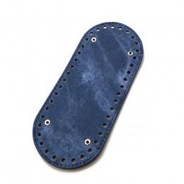 Moda 1Pc owalne długie dno na torba z dzianiny PU skóra 42 otwory Handmade DIY torebka dolna wymiana akcesoria do toreb