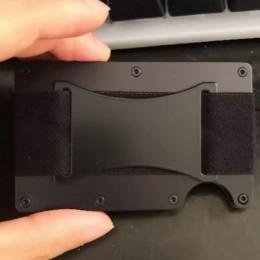 Rfid metalowy portfel Aviator Nfc Travel aluminiowe etui na karty kredytowe z klipsem na portfele