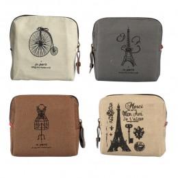 Aelicy Vintage Classic Women Man Canvas Coin torebka portfel na zamek mały Mini torba Case sakiewka Retro worki na pieniądze pre