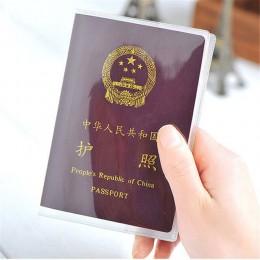 Okładka na paszport etui na karty podróżne wodoodporne etui na paszport przezroczysta karta pcv portfel etui na karty kredytowe
