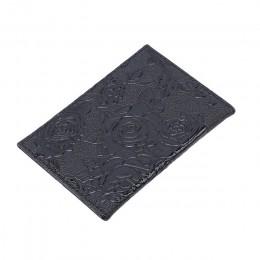 Gorący bubel czerwony trójwymiarowy tłoczone Rose PU skóra kobiety paszport podróże Holder tłoczenie okładka na paszport karta k