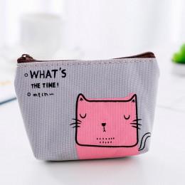 UOSC portmonetki damskie portfele małe Cute Cartoon zwierząt posiadacz karty futerał na klucze worki na pieniądze dla dziewczyne