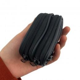 BELLO TUTTI PU skóra męska portmonetka mały portfel moda pas biodrowy pętle torba Mini Case torba kieszonkowa Coin Case czarne k