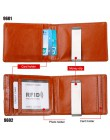Nowy anty RFID prawdziwej skóry męski portfel na pieniądze kobiece etui na karty kredytowe mężczyzna Metal Bill Clamp portfel to