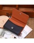 Aelicy męska biznes skórzana karta portfel portmonetka Slim ID Card etui na karty kredytowe kieszeń multi-card Holder Mini Hasp