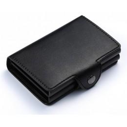 BISI GORO 2020 portfel na karty etui ID metalowe etui na karty kredytowe z RFID Vintage Business 2 aluminiowy portfel na kartę k