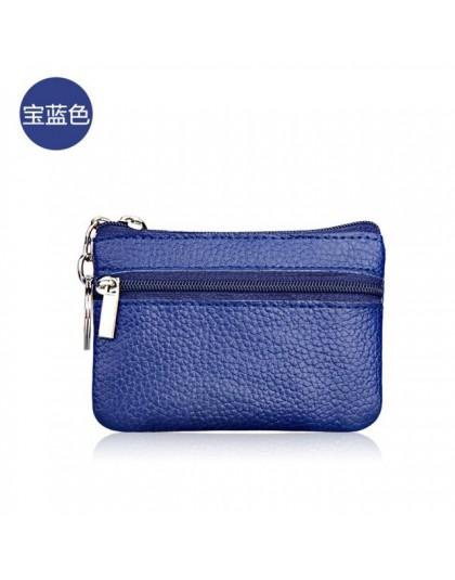 Mini portmonetka portfele kieszonkowe kobiety mała portmonetka ze skóry PU Zipper zmień worki na pieniądze saszetka na klucze ID
