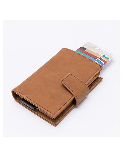 BISI GORO fashion anti rfid automatyczne etui na karty kredytowe wielofunkcyjna ochrona porta tarjetas etykieta z imieniem alumi